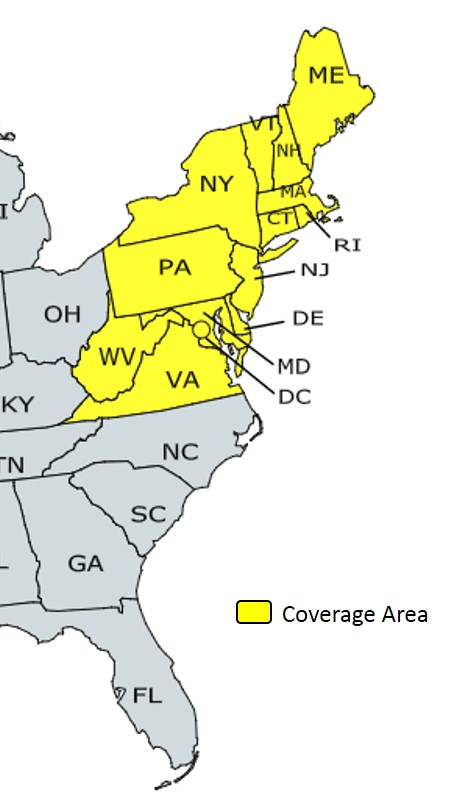 Web Coverage Map